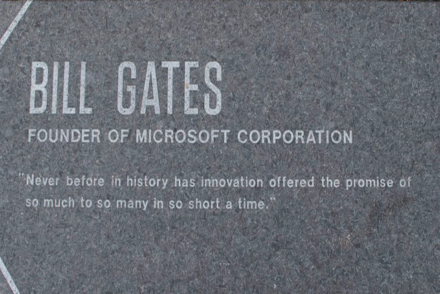 Bill Gates quote sign